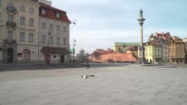 Warszawa - epidemia koronawirusa, Zamek Królewski, Bulwary Wiślane [przebitki]