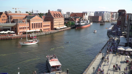 Gdańsk, widok na Motławę, statki - lato [przebitki]
