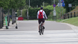 Rowerzyści w mieście - lato 2020 r. [przebitki]