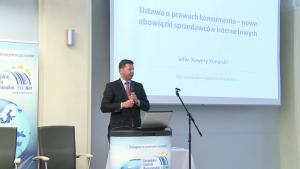 """[zdjęcia] Konferencja """"Handel internetowy w Polsce i UE po implementacji postanowień nowej dyrektywy ws. praw konsumentów oraz regulacji ADR i ODR Wszystkie newsy"""