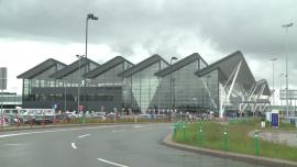 Lotnisko w Gdańsku w czasie pandemii - maj 2020 [przebitki]