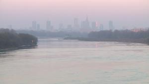 Panorama Warszawy z Mostu Siekierkowskiego [zdjęcia wideo]