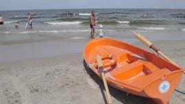 plaża w Krynicy Morskiej, ratownicy WOPR, morze [przebitki] - lato Baza przebitek