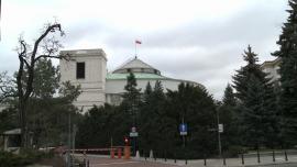 Sejm, Senat, Kancelaria Prezydenta RP, ul. Wiejska w Warszawie - zdjęcia do montażu
