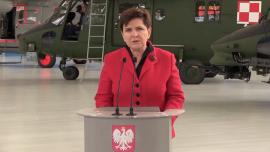 Premier Beata Szydło: chcemy, by sprzęt dla polskiej armii produkowany był w Polsce, przez polskich pracowników. To podstawa rozwoju nowoczesnego przemysłu