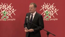 Ceremonia otwarcia targów CeBIT w Hanowerze - Donald Tusk i Angela Merkel - zdjęcia do montażu
