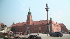 Warszawa Plac Zamkowy - lato [przebitki]