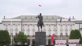 Pałac Prezydencki, Krakowskie Przedmieście, Warszawa - lipiec [przebitki]
