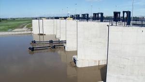 Zbiornik przeciwpowodziowy w Raciborzu - 2020 r. [przebitki]