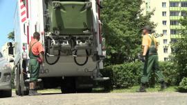 [zdjęcia] śmieciarki odbierające odpady