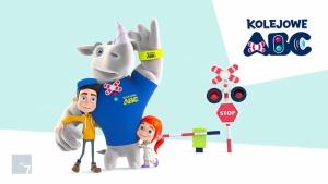 """Rogatek, stworzony przez BE7 bohater """"Kampanii Kolejowe ABC"""" Biuro prasowe"""