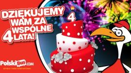 Dziękujemy Wam za wspólne 4 lata z PolskiBus.com! Zobacz nasz urodzinowy film i