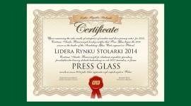 PRESS GLASS Liderem Rynku Stolarki 2014