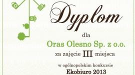 Oraz z nagrodą w konkursie Ekobiuro 2013