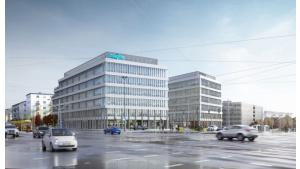 Imagine office complex with full construction Biuro prasowe
