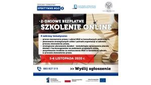 Listopadowe, bezpłatne szkolenie online dla NGO Biuro prasowe