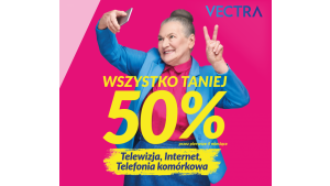 """""""Wszystko 50% taniej"""" – Vectra z jesienną kampanią wspierającą sprzedaż Biuro prasowe"""