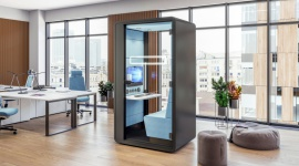 HushHybrid: nowa kabina akustyczna do pracy hybrydowej