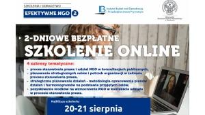 Efektywne NGO 2 - bezpłatne szkolenie online