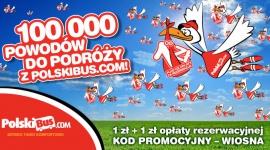 100 000 powodów do podróży z PolskiBus.com! Startuje Wielka Wiosenna Bonanza!