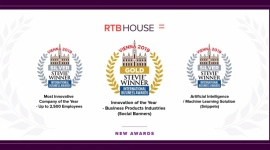 RTB House z trzema nagrodami Stevie® Awards
