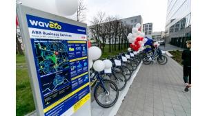 ABB ze stacją rowerów Wavelo Biuro prasowe