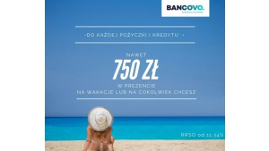 BANCOVO. rozdaje klientom prezenty na wakacje Biuro prasowe