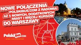 Nowe połączenia PolskiBus.com z Radomia!