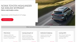 Nowa strona internetowa Toyota Bank i Toyota Leasing Biuro prasowe