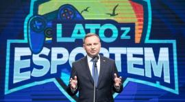 Prezydent Andrzej Duda na pikniku Lato z esportem