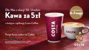 Kawa za 5 zł! Specjalna oferta dla Gości kawiarni Costa Coffee