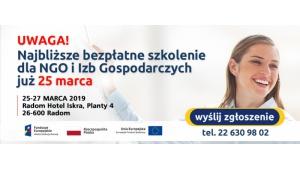 Bezpłatne szkolenie dla NGO w Radomiu