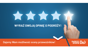 DworzecOnline.pl z możliwością oceny przewoźnika! Nowa opcja już dostępna. Biuro prasowe