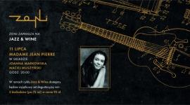 Jazz & Wine 11.07   Koncert Madame Jean Pierre   Restauracja Zoni