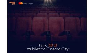 Bilety do Cinema City za 10 zł przy płatności Masterpass® Biuro prasowe