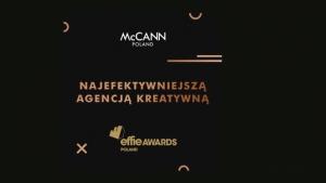 McCANN Poland najefektywniejszą agencją kreatywną w EFFIE Awards