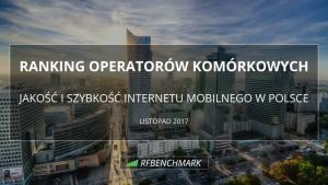 Który operator miał najszybszy Internet mobilny w listopadzie?