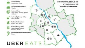 UberEATS | Co zamawiają mieszkańcy poszczególnych dzielnic w Warszawie? Biuro prasowe