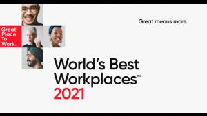 Znamy już laureatów listy World's Best Workplaces™ 2021
