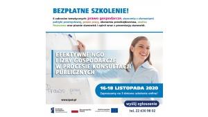 Bezpłatne szkolenie online dla NGO! RODO, prawo pracy, finanse, konsultacje
