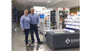 Pierwsza zabudowa sklepowa Sigma Coatings stanęła w Kołobrzegu Biuro prasowe