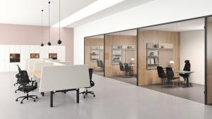 Kinnarps wprowadza do oferty nową serię ścianek działowych VIBE
