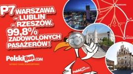 P7 Warszawa – Lublin – Rzeszów. 99,8% zadowolonych pasażerów!